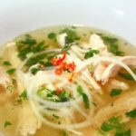 Healthy yummy chicken 'pho' soup
