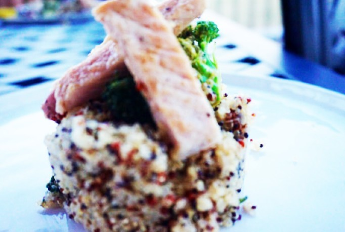 Healthy Middle Eastern Pork with Apple and Mint Quinoa - Plant based whole food