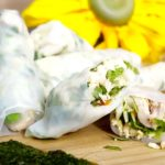 A Delcious and Healthy Vietnamese Chicken Spring Rolls With Coriander Sauce Recipe