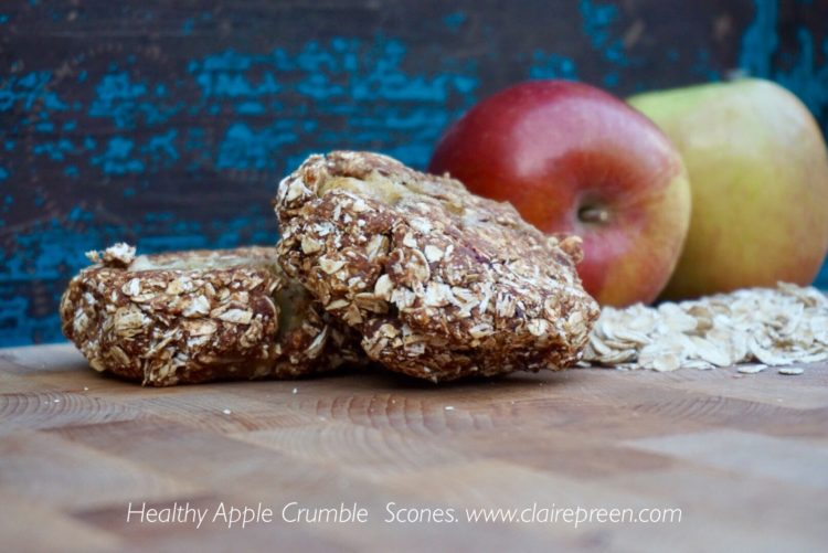Healthy Apple Crumble snacks