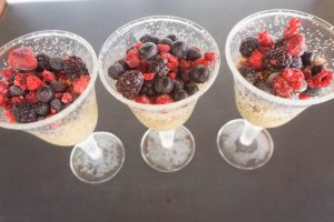 Chia seed and muesli pots